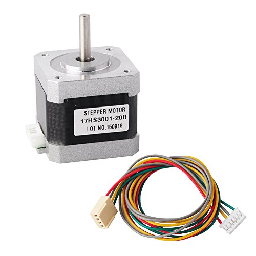 DIYmall Nema17 step Motor 17HS3001-20B 2phase 0.4N.m(4kgf.cm) 1.2A hybrid stepper motor with 4 head wires for 3D - Hybrid Stepper
