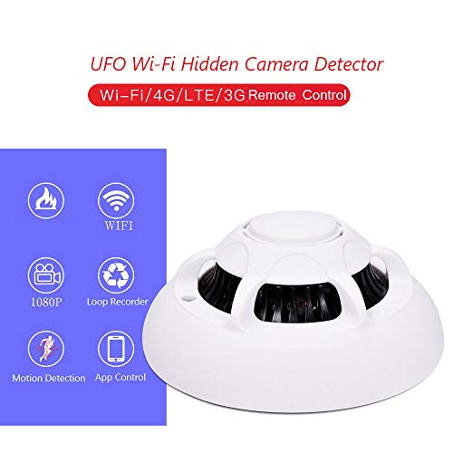 Wi-Fi Hidden Camera Detector 1080P Full HD Spy Camera Motion Detection Activated Real-time Video Remotely Viewing Wireless Nanny Security Camera White