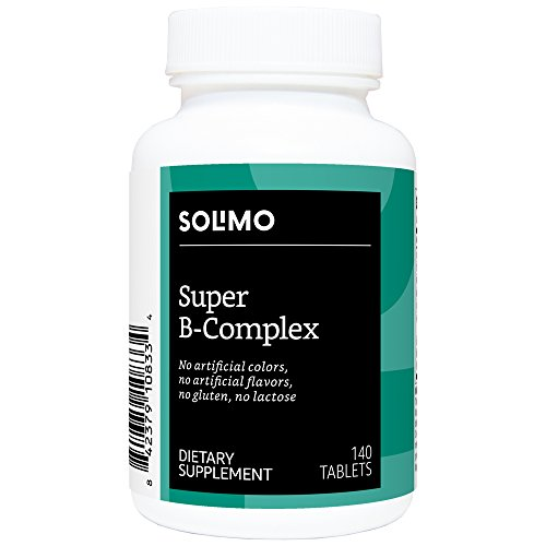 Amazon Brand - Solimo Super B-Complex, 140 Tablets, Four Month Supply