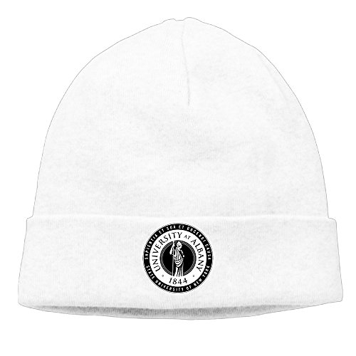 EWIED Men's&Women's University At Albany Patch Beanie JoggingWhite Cap Hat For Autumn And Winter (Puma New Wave)