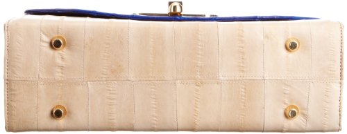 Makki Liberte Satchel 1, Borsa Donna Blu (Cream/Tan/Blue)