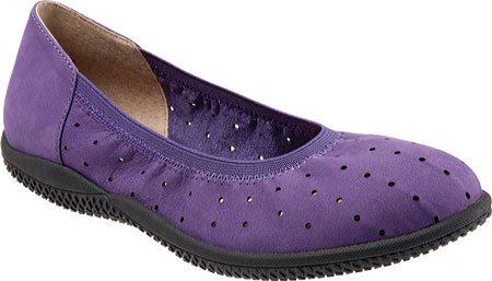 Soft Kvinna Hampshire Balett Platt Elektrisk Violett Nubuckläder