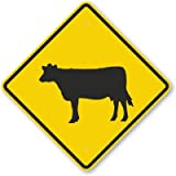 Cattle Symbol, Engineer Grade Reflective Aluminum Sign, 80 mil, 36'' x 36''