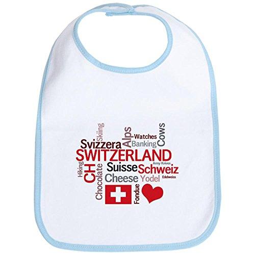 (CafePress - Switzerland - Favorite Swiss Things Bib - Cute Cloth Baby Bib, Toddler Bib)