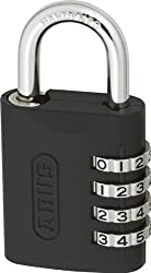 ABUS 158/45KC B Zinc Resettable Combination Padlock with Key Conrol