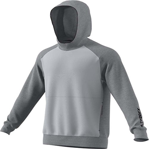 adidas Terrex Climb The City Wool Hoo Clear Onix Mens Hoodie Grey ()