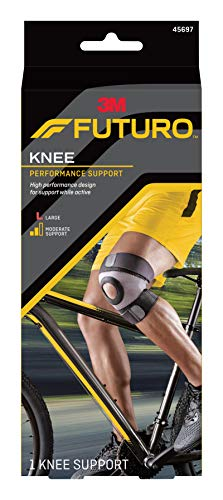 FUTURO Sport Moisture Control Knee Support, Large, 1 ea