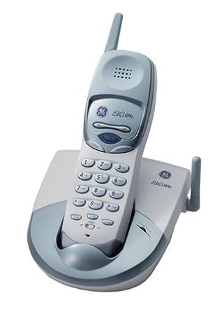 amazon com ge 27928ge5 2 4 ghz analog cordless phone white rh amazon com GE Corded Phones GE 27980GE3 Cordless Phone Clock Radio Combo