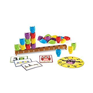 Learning Resources 1-10 Counting Owls Activity Set, Fine Motor Toy, 25 Piece Set, Ages 3+