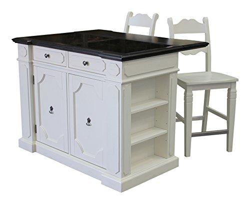Home Styles 5076-948G Fiesta Granite Top Kitchen Island w...
