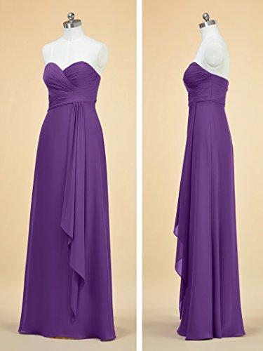 Acqua Una Vestito Prom Chiffon Lungo Damigelle Di Alicepub Da D'onore Elegante Sera Donne Linea Abito Blu ZqaxwS5