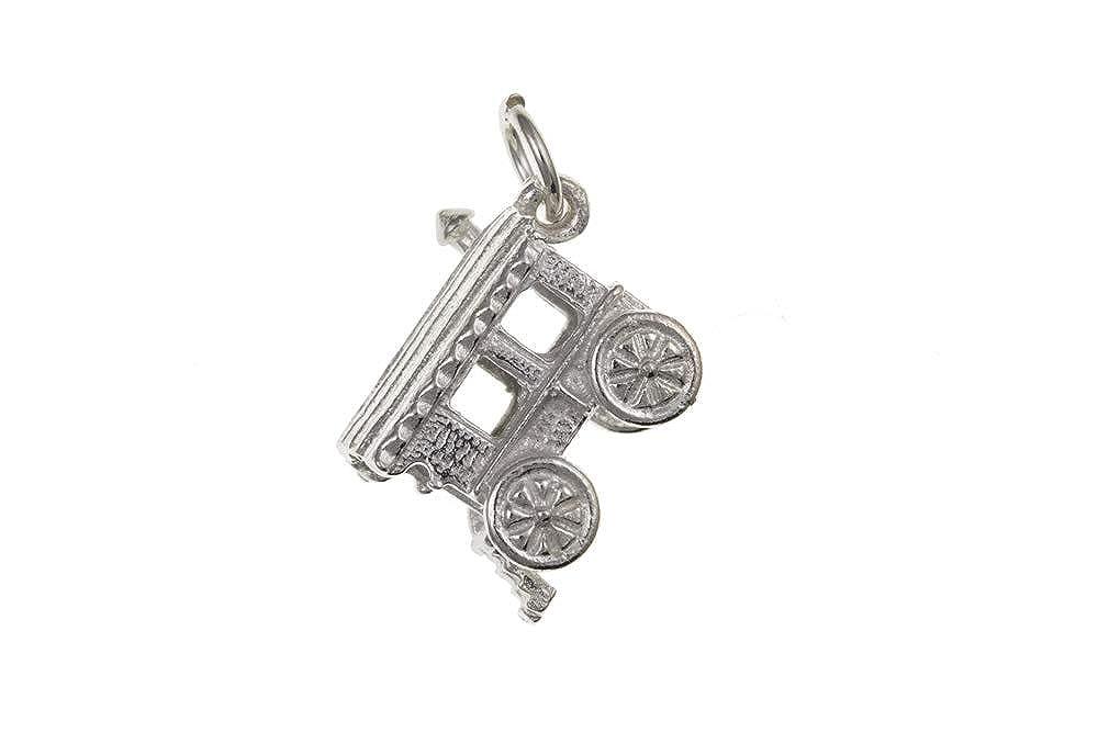 Sterling Silver Gypsy Caravan Charm Pendant