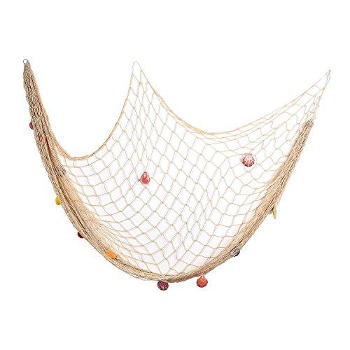 Decorative fish net yagote white mediterranean style for Fishing net decor