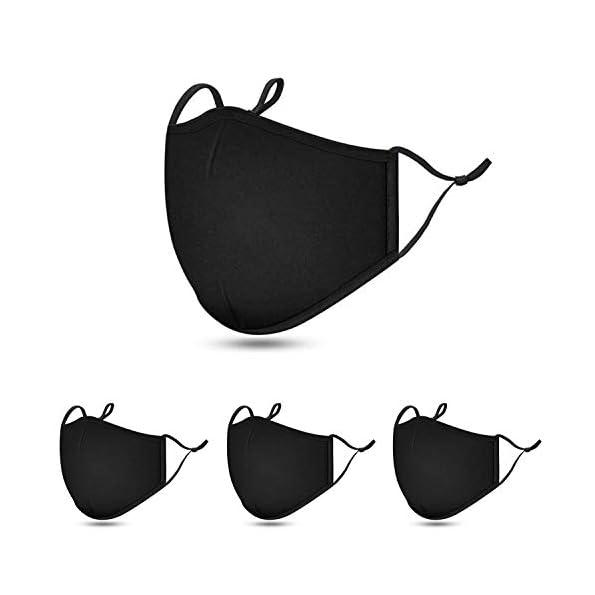 Maske-Stoff-Mundschutz-Maske-schwarz-Mund-und-Nasenschutz-Stoffmasken-Baumwolle-Mund-und-Nasen-Masken-waschbar-CALIYO-4-Stck-4er-Set