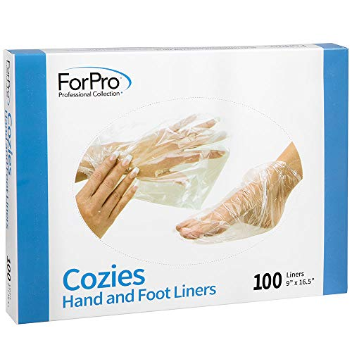 Hand & Foot : Treatments - ForPro Cozies Hand and Foot Liners, Paraffin Treatments, Heated Mitts, Hand/Foot Treatments, 9 W x 16.5 L Inches, 100-Ct