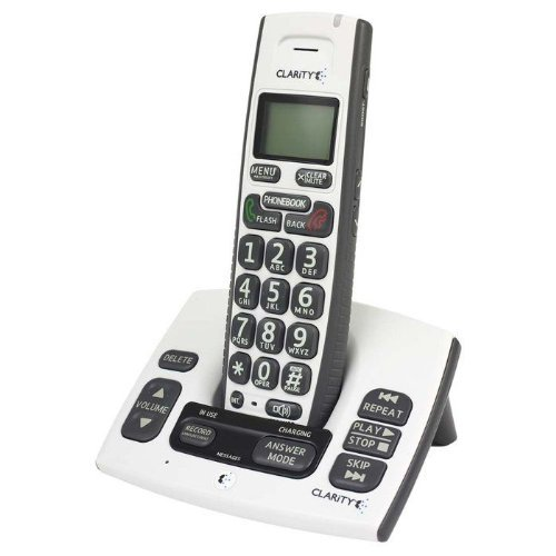 Clarity D613 DECT 6.0 Amplified Cordless Phone w/ Digital Answering Machine (Amplified Cordless Phone)