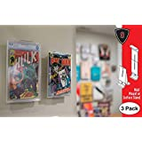 Comic Mount Comic Book Shelf Stand and Wall Mount, Invisible and Adjustable, 3 Pack