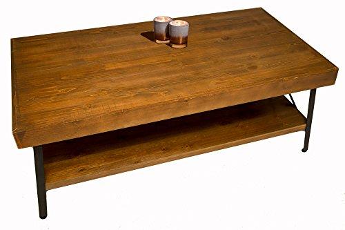 metal and wood coffee table - 9