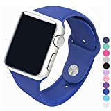 Piwjo Silicone Apple Watch Band and Replacement Iwatch Bands Series 1,Series 2,Series 3 (42mm S/M, Royal Blue)