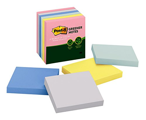 Post-it Greener Notes, 3 in x 3 in, Helsinki Collection, 6 P