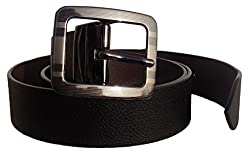 Men's Reversible Belt - Genuine Leather Black & Brown out 1.5