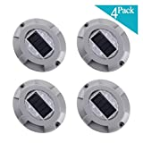 Solar Dock Light- Set of 4- LED Deck Light Solar Powered Path Road Dock Lights Outdoor Warning Step Lamps for Driveway Garden Deck Walkway Backyard Fence Patio(4 Pack,Blue)