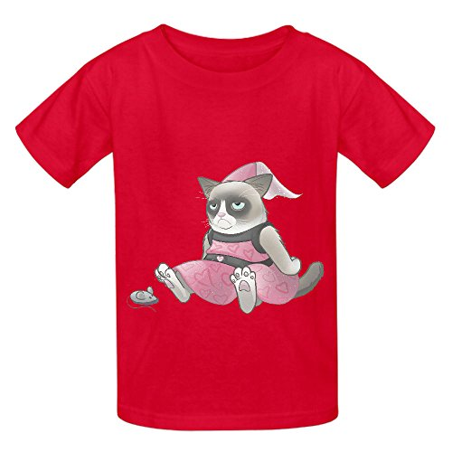 Price comparison product image Snowl I Dont Feel Pretty Yet Child Crew Neck Print T Shirt Red
