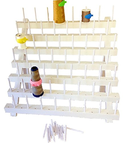 PeavyTailor Thread Stand/Rack and Organizer for Sewing Quilting Embroidery - White Wall Mount peavytailor.com