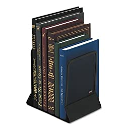 Rolodex Mesh Bookends with Solid Base, 5.25 x 6.25 x 5 Inches, Steel, Black, 1 Pair of Ends (22331ELD)