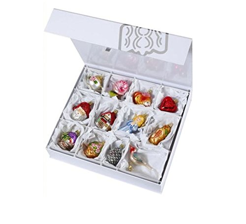 Inge Glas The Bridal Collection Wedding German Glass Ornament Gift Set of 12