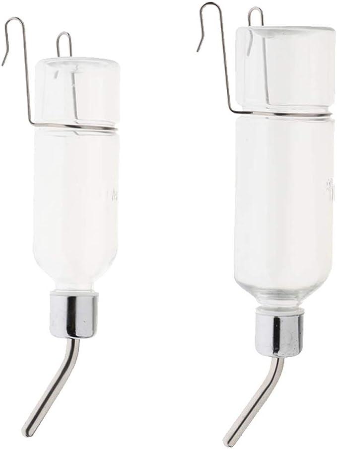 Canarie Bianco L Pappagallini Fenteer Bevitore di Acqua Gabbia Pappagallo Uccello con Clip di Irrigazione per Fringuelli