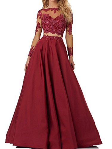 2 Piece Beaded Evening Gown - 7