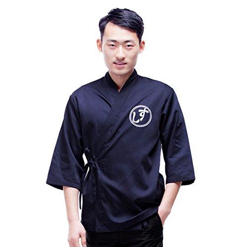 Pinji Japanese Style Chef Coat Jacket for Men Women Workwear Sushi Restaurant Catering Uniform Work Clothes Kitchen Asian M