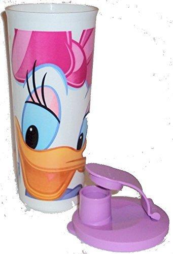 Tupperware 16 Ounce Tumbler with Flip Top Seal Walt Disney Daisy Duck Design