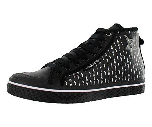 adidas Honey Mid Womens Shoes Black/Silver Size 8.5 - Adidas Womens Honey