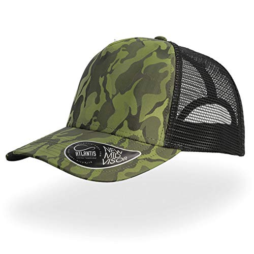 Adjustable Mens Womens Trucker Baseball Cap Dad Hat Outdoor Sports Camping Hiking Hunting Snapback Camo Olive Green ()