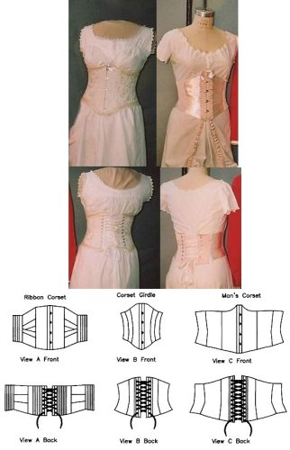 Amazon Sewing Pattern Laughing Moon 40 Victorian Underbust Cool Corset Pattern