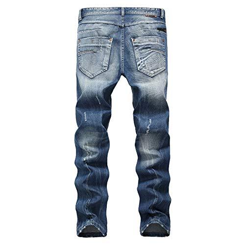 Ultra Jeans Fit Et Chlyuan Fuselée Pour Marron Skinny Mode Déchirés confortables Mode Clair Décontracté Coupe Hommes Pantalon Hommes La À Fit Slim OqzqFd
