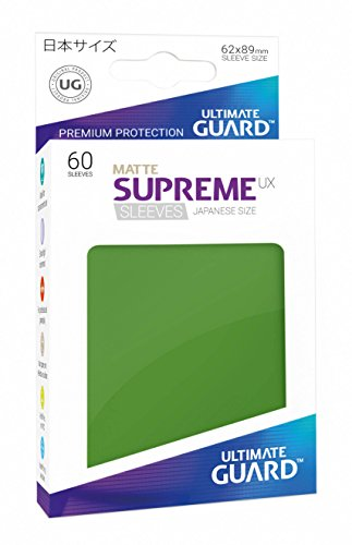 (Ultimate Guard Supreme Japanese UX Card Sleeves (60 Piece), Matte Green)