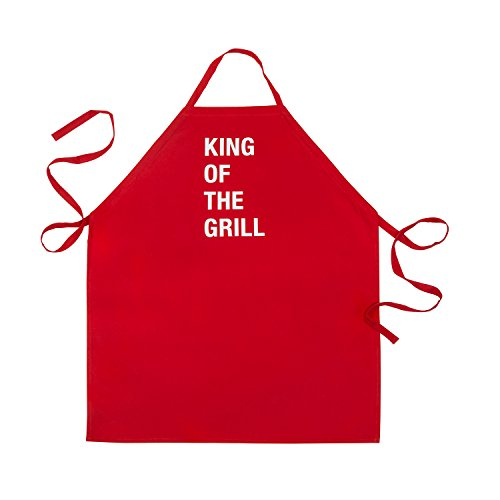 About Face Designs Apron-King of the Grill, Standard, Red (King Grill Apron)