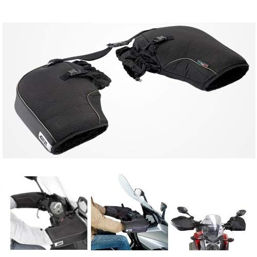 Ducati 1198 2009-2018 Givi TM418 Universal Waterproof Handlebar Cover for Motorbikes and Scooters without Hand Guards Black MOTO SPORT MONDO