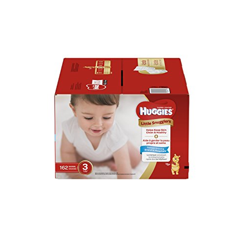 HUGGIES LITTLE SNUGGLERS, Baby Diapers, Size 3, 162ct