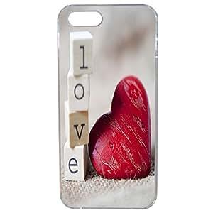 Lapinette COQUE-iPhone-SE-COEUR-2 - Funda para Apple iPhone SE, diseño de corazón love