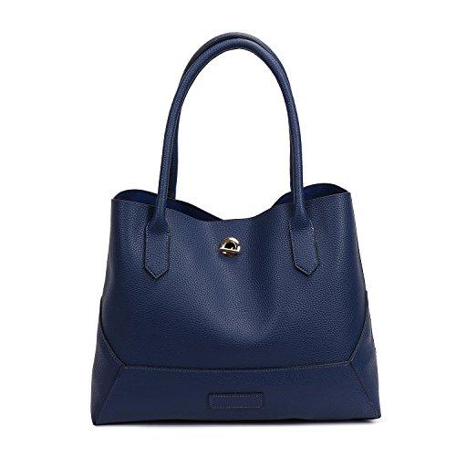 SIFINI - Bolso estilo cartera de Piel Sintética para mujer Azul