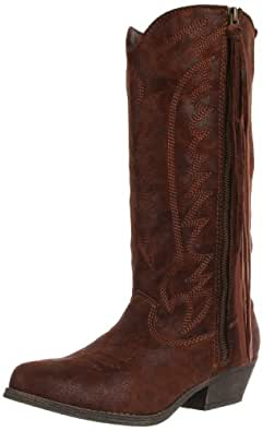 Big Buddha Women's Wyatt Boot,Brown Fabric,5 M US