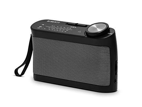 Roberts Radio R9993 Portable 3-Band LW/MW/FM Battery Radio with Headphone Socket – Black