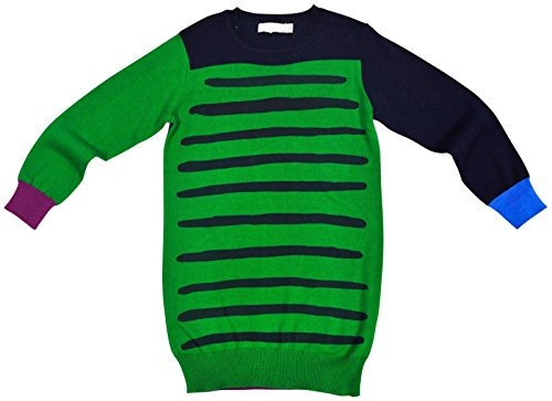 Stella McCartney Kids Little Girls' Color Block Knit Dress (Toddler/Kid) - Green/Navy - 6 by Stella McCartney Kids