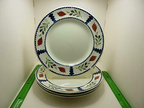 ADAMS CHINA Lancaster Dinner Plate SET/4 ~ RETIRED 1998 Real English Ironstone