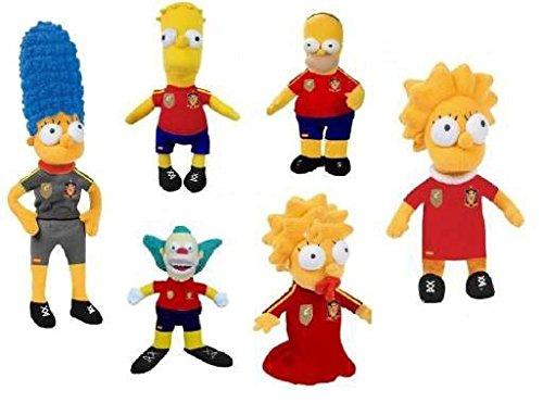Los Simpsons - Peluches Pack familia Sport más Krusty el payaso 22cm - Calidad Nylexhttps://amzn.to/2SC9fpE