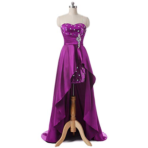 Sposa S Maxi Vestito Schienale Donne Maniche color Sera Senza Abiti Haxibkena Da D'onore Per Purple Gray Damigella Prom Codino Le Size qwS7n0H